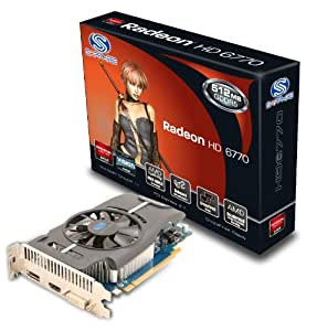 Sapphire Carte graphique AMD Radeon HD6770 512 Mo GDDR5 PCI-E HDMI/DVI-I/DP