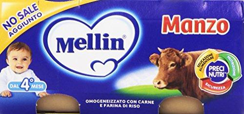 Newsbenessere.com 51nZGN7IXbL Mellin - Alimento per l'infanzia, omogenizzato con carne di manzo e farina di riso - 12 pezzi da 2 vasetti da 80 g [24 vasetti, 1920 g]