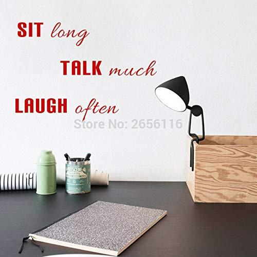 Sitzen Lange reden viel lachen oft DIY Zitate Vinyl Kunst wandaufkleber für raumdekor 30 * 43 cm