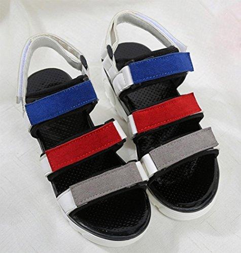 sandales d'été muffin avec des sandales étudiantes White