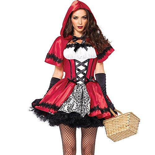 Kostüm Müssen (Svance Adult Halloween Party Kostüme Kleid für Frauen und Girls. (M, Rotkäppchen02)
