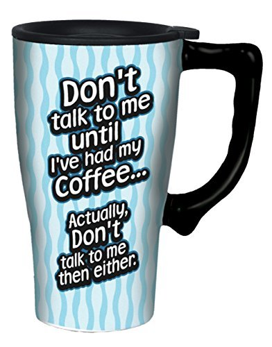 Spoontiques Don't Talk to Me Travel Mug, Multicolor by Spoontiques