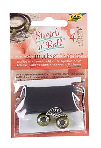 folia 93101 - Armbandbastelset Strech und Roll - Set Nature, braun