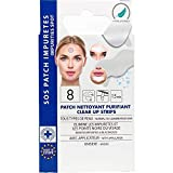 EUROSIREL -Patchs Anti Points Noirs Comédons, Nettoie Pores du Nez Strips Hypoallergéniques Nettoyants Purifiants x 8 Strips