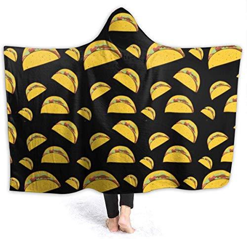 """Many Beef Burgers Womens Hooded Blanket Superweiche Flanelldecke Hoodie Tragbare Decke mit Kapuze Robe mit Kapuze Mantel für Bademantel 50""""x40"""""""
