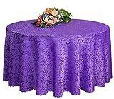 Hochzeiten Bankette Hotels Tischtennis Zubehör Runde Tischdecken 220 * 220CM (Lila)