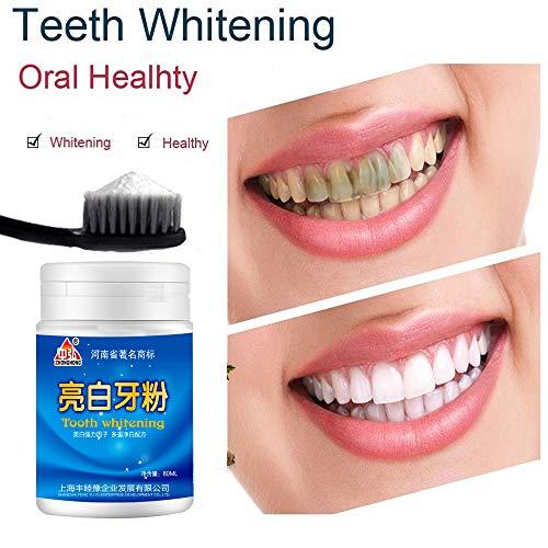 EliaSan Personal Care 80g Natürliches Zahnaufhellungspulver Perlmutt Zahnpuder Zahnhygiene