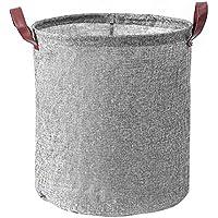Anna-neek Cesta de Almacenamiento, Cesto para Guardar Ropa Sucia Plegable Cestos Es Plegable, de algodón, ramio,con Forma de Cubo cilíndrico 40cm*35cm