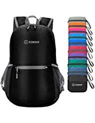 ZOMAKE Ultra Lightweight Foldable Backpack, Unisex Small Rucksack, Water Resistant Hiking Daypack for Travel & Outdoor Sports