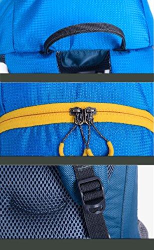 toleadprofessional Wasserdicht Camping Rucksack strapazierfähige reißfestes Nylon Polyester Wandern Daypack Laufen Radfahren Rucksack kratzfest Reise Rucksack Tasche Bergsteigen Tasche Unisex-Erwachse Blau