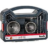 KWB Power Box Trépan Diamètre 68, 82, mm (6pièces, hartmetallbestückt, antichoc, quatre Foret de centrage), 1pièce, 499176