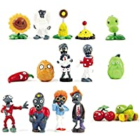 BIGOCT 16 X Plants vs Zombies Toys Series Game Role Figure Display Toy PVC Gargantuar Craze