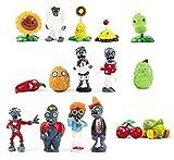 BIGOCT 16x Pflanzen Vs Zombies, spielzeugreihe Figur Display Spielzeug PVC Gargantua Craze Dave Dr. 16Action Figur