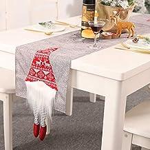 YIREAUD Jullöpare, handgjord, svensk dvärg, plysch, mustasch för jul, semester, hem, fest, bordsdekorationer, grå, Large