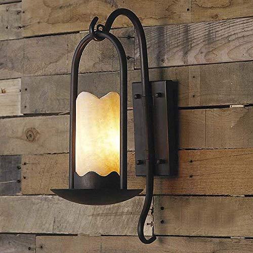 Xungzl Industrielle Vintage Wandleuchte Leuchte Loft Retro Indoor Wandleuchte Licht zylindrischen Alabaster Schatten neben Licht Wandleuchte schwarz for Bar Restaurant Treppe -