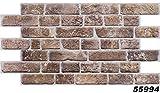 1 PVC Dekorplatte Steindekor Wandverkleidung Platten Wand 95x49cm, 55994