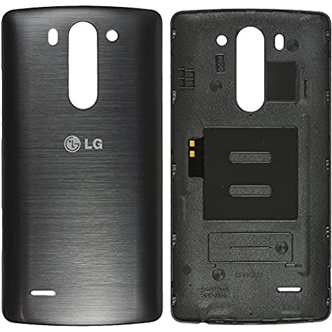 Original LG tapa titan para LG D722 G3s - sin NFC (tapa de batería, batería cubierta, parte trasera, back-cover) -