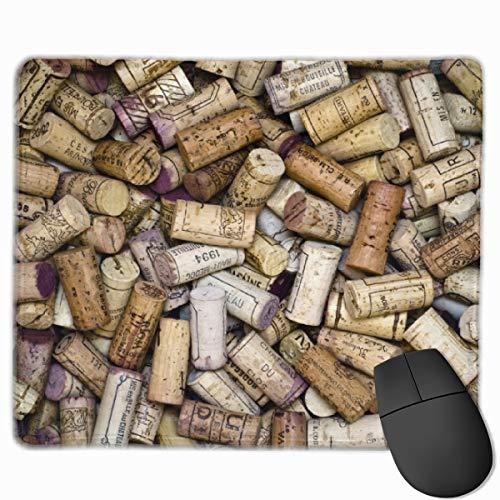 Mauspad mit Weinkorken, rutschfest, Gummi, rechteckig, für Schreibtisch, Laptop, Büro, Arbeit