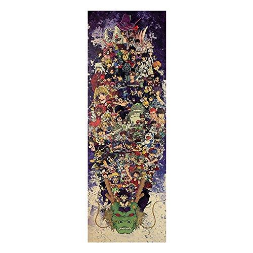 Coaste Antilane Anime Poster/Wanddekoration/Wandaufkleber/Wandtattoo/Wandbilder, Naruto Shippuuden/Dragonball Z/Digimon/Doraemon/Sailor Moon, Kinder Jugendliche Männer und Anime-Fans