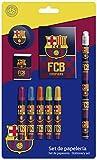 Futbol Club Barcelona 0 Set de papelería 9 Piezas, 0 (CYP Imports GS-408-BC)
