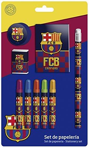 Futbol Club Barcelona Stationery Set 9  Pieces  CYP Imports gs-408-bc