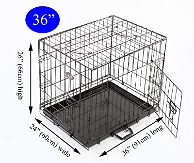 "Easipet 36"" Black Metal Dog / Puppy Cage"