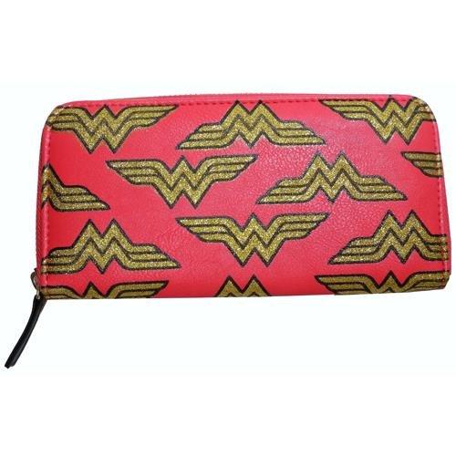 Offizielle Wonder Woman Gold Luxe Logo Clutch Portemonnaie Geldbörse - (Wonder Stiefel Die Woman Roten)