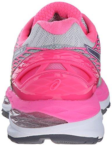 Asics Gel-Nimbus 18 Synthétique Chaussure de Course Silver-Titanium-Hot Pink