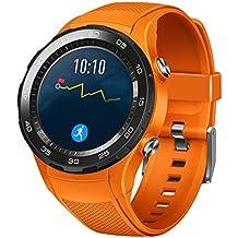 Correas para huawei watch 2 - Sannysis banda de silicona de Huawei reloj 2 (naranja)