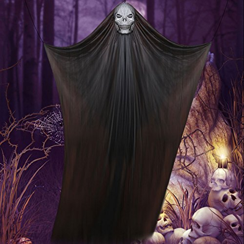Halloween Dekoration liefert Hängende Geister Mall Supermarkt Bar KTV Spuk Haus Horror Requisiten (Color : Black)