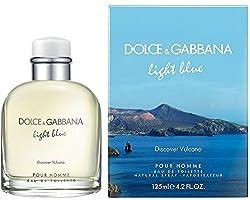 2 Pack - Light Blue Discover Vulcano By Dolce Gabbana Eau De Toilettes Spray For Men 4.2 oz