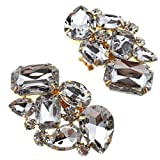 Fermaglio per scarpe, in cristallo, rimovibile, perfetto per scarpe con tacco alto, per matrimonio, festa nuziale, Stile C