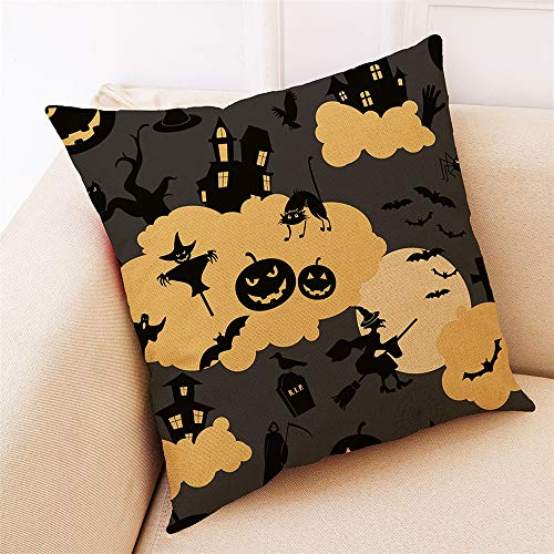 HARRYSTORE Home Decor Kissenbezug Happy Halloween Throw Kissenbezug KissenbezügeHome Decor Cushion Cover Happy Halloween Throw Pillowcase Pillow Covers