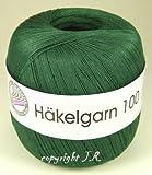 Häkelgarn 100 Gramm Baumwolle-Filet-Garn häkeln - Farbe dunkel-grün_115