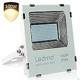 LED Strahler 100w Led Strahler Außenleuchte Fluter Aussen Warmweiß 2700K,LED Scheinwerfer 10000LM Super Hell Außenstrahler Flutlicht,IP65 Wasserdicht CRI>80