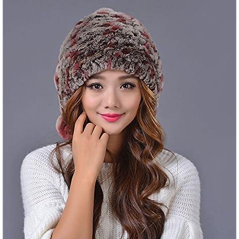 JSGN-Knit carino sfera ladies imbottito invernale casco,Floating