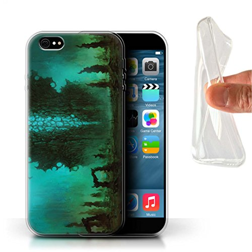 Offiziell Chris Cold Hülle / Gel TPU Case für Apple iPhone 6S+/Plus / Pack 12pcs Muster / Fremden Welt Kosmos Kollektion Alien Landschaft