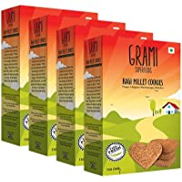 Grami Superfoods Ragi Millet Cookies, 150 GMS x 4 Packs