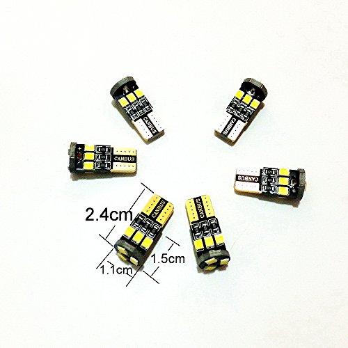 July King 6000K 6pcs T10 LED Voiture Intérieur Lumières De Lecture Read-V-S60 pour S60 XC60 V60 S80 etc
