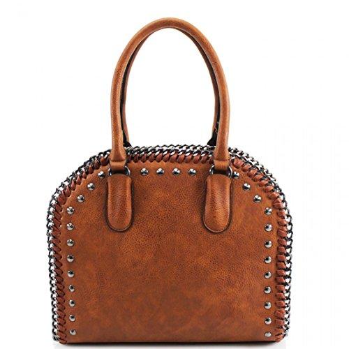HB Style - Borsa sacchetto stile lusso Ragazza donna unisex adulti Tan