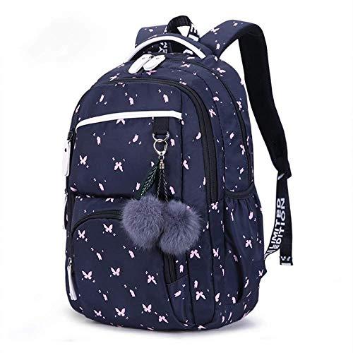 DX Schulrucksack FengDong niedlichen Schultaschen für Teenager-Mädchen koreanischen Stil Schulrucksack für Mädchen Fellknäuel Dekoration Kinder Tasche Mädchen Geschenk -