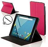 Forefront Cases® Google Nexus 9 8.9 Zoll Hülle Schutzhülle Tasche Bumper Folio Smart Case Cover Stand - Rundum-Geräteschutz und intelligente Auto Schlaf/Wach Funktion inkl. Eingabestift (ROSA)
