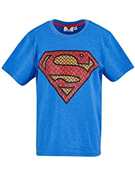 Superman Chicos Camiseta Manga Corta - Azul