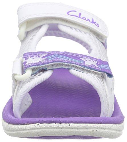 Clarks  Star Games Fst, Baskets premiers pas mixte bébé Blanc (White)