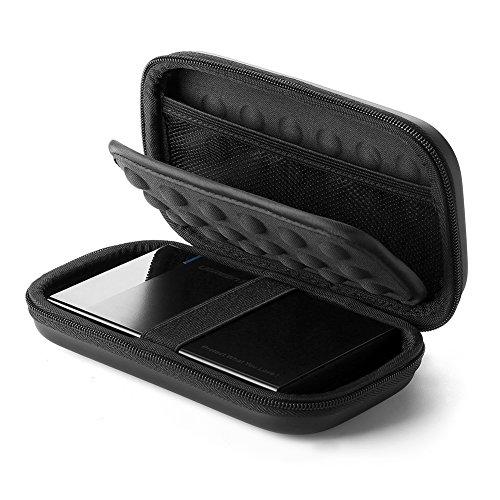 """UGREEN Festplattentasche 2,5 zoll Festplatten Case Festplatte Tasche stoßfest HDD case geeignet für 2,5"""" Western Digital, Seagate, Samsung, Toshiba HD, USB Kabel, USB Stick, Speicherkarten, Powerbank und anderes Elektronik Zubehör, Schwarz"""