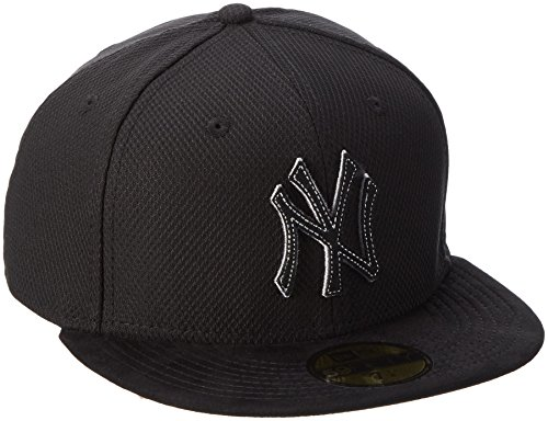 New Era Cap Diamond Suede New York Yankees, Schwarz/Gray, 80214429 (59fifty Hat Feld)