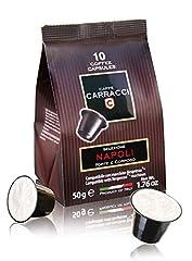 Idea Regalo - Caffè Carracci, Capsule Compatibili Nespresso, Napoli - 10 astucci da 10 capsule (totale 100 capsule)