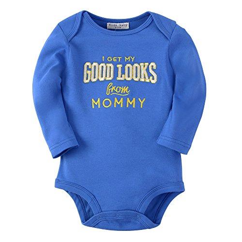 Sanlutoz Baby Jungen Kleidung Baumwoll Neugeborene Säugling Kleider Langen Ärmeln Bodys (0-6 Monate, R09 GOODLOOK)