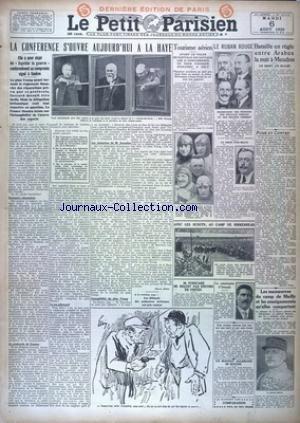 PETIT PARISIEN DERNIERE EDITION DE PARIS (LE) [No 19152] du 06/08/1929