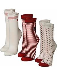 35-42 mit Baumwolle rot marine weiß Damen Socken Strümpfe Maritim Motive Gr